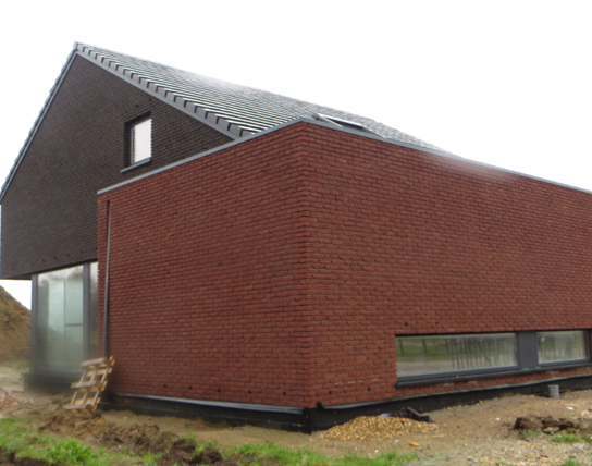 grote weergave laag-energiewoning Paal