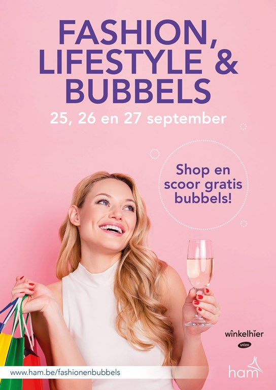 grote weergave Fashion en bubbels
